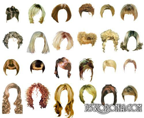 Clipart - Female Hairstyles 2 part.