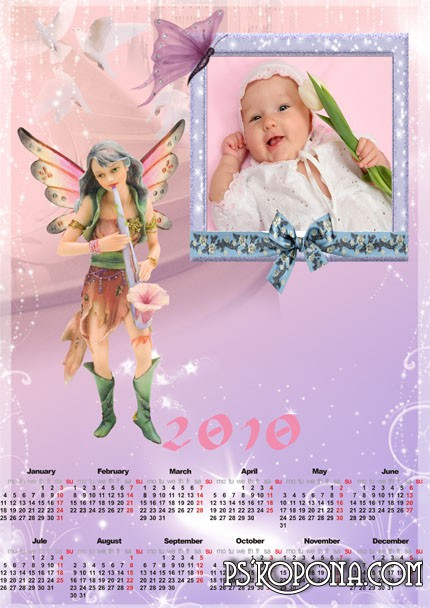 Photoframea calendar of 2010 -  Fairy tale