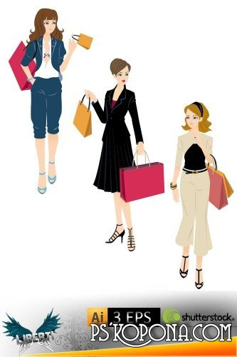 clip art woman shopping. Shopping woman vector
