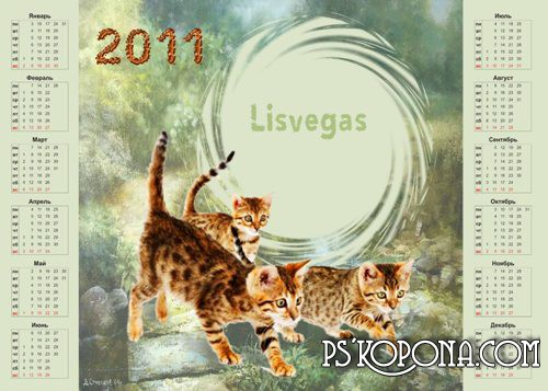 Calendar-framework  2011 - Year of the Cat