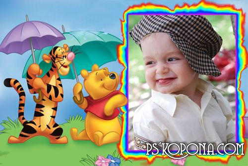Frame for Photoshop - Winnie the Pooh » psd template,psd photoshop ...