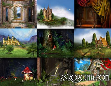 Backgrounds for Photoshop Fairy Backgrounds