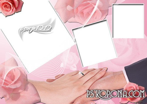 Frame for Photoshop Wedding PSD 3508 2480 300 dpi 215 MB