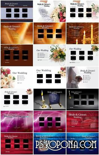 50 menus for Wedding DVD with a bonus