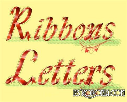 Clipart psd Ribbons Letters new 2010 free download