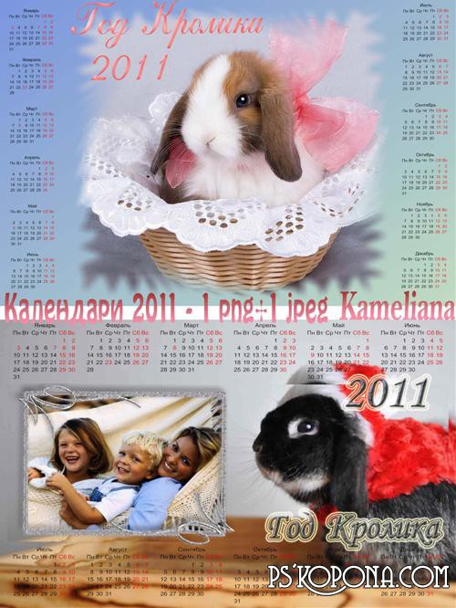 Calendars for 2011 - Year of the Rabbit
