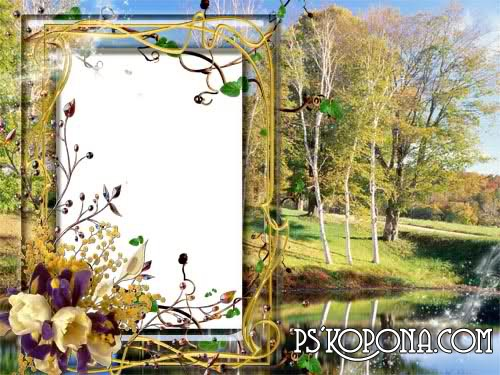 autumn frame download for photo – Golden autumn