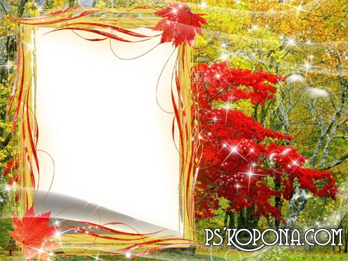 autumn Photo frame download  – Bright colors of autumn