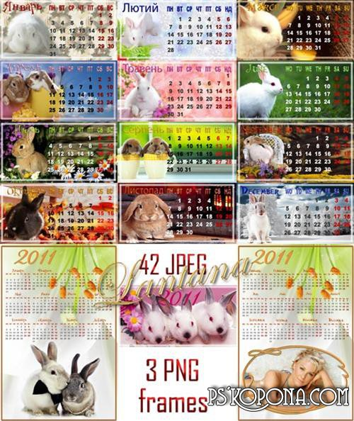 Loose-leaf calendar for 2011 - Year of the Rabbit
