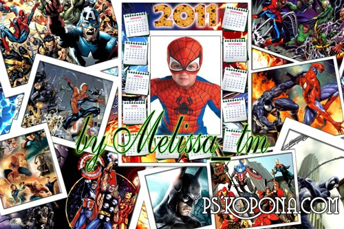 Children Calendar 2011 - Super Heroes