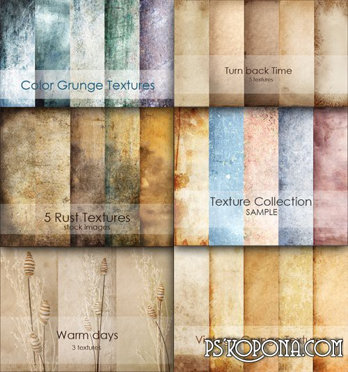 6 collections of textures