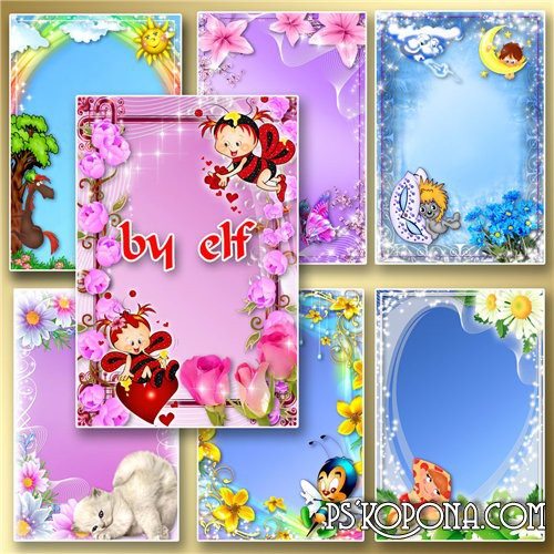 7 PSD Photo frames Baby tales free download