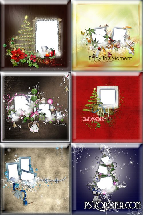 New Year scrap frames