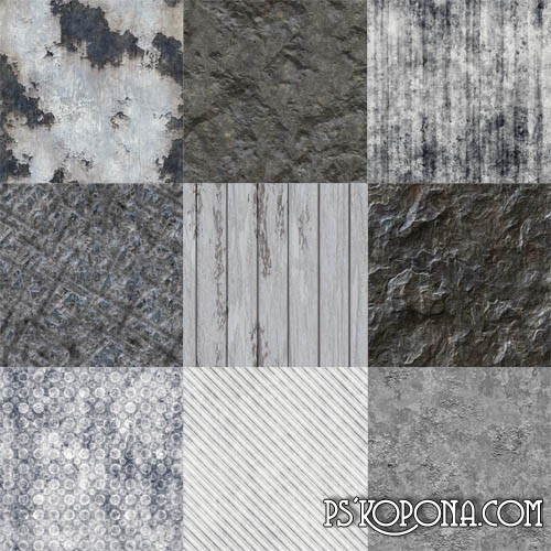 Gray textures and patterns