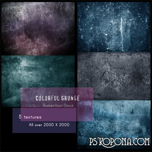 Textures - Colorful Grunge