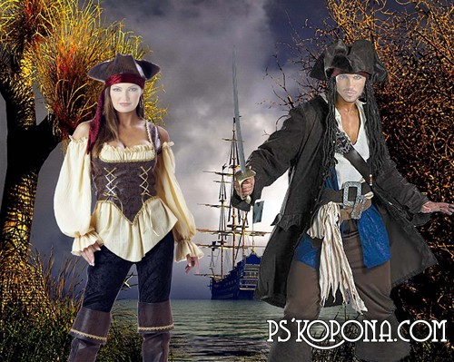 Pair psd template for photoshop Pirates download