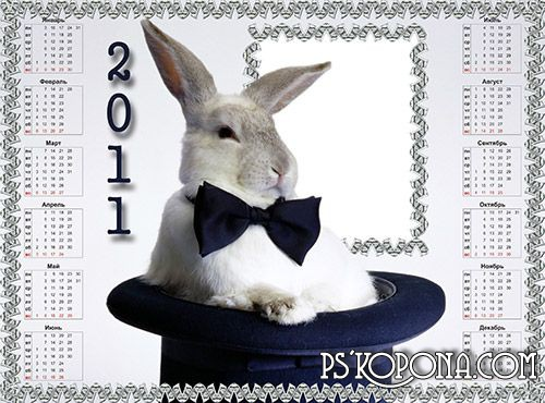 Calendar Frame - Rabbit in the Hat