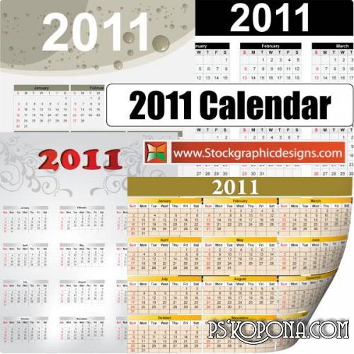 calendar for 2011 with bank holidays. Vector Calendar 2011
