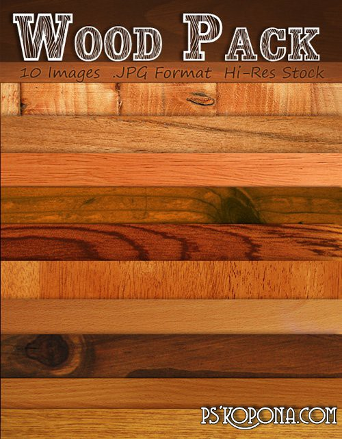 Collection of quality wood textures