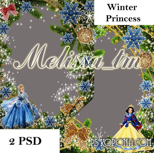 Children's Frames download - Winter Princess