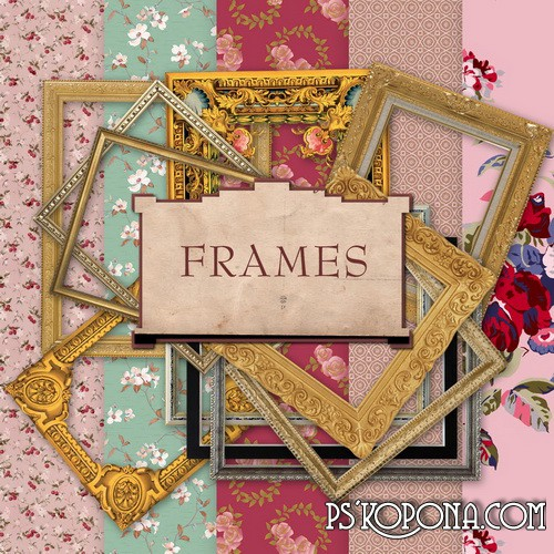 Scrap-Kit - Vintage Frames and backgrounds