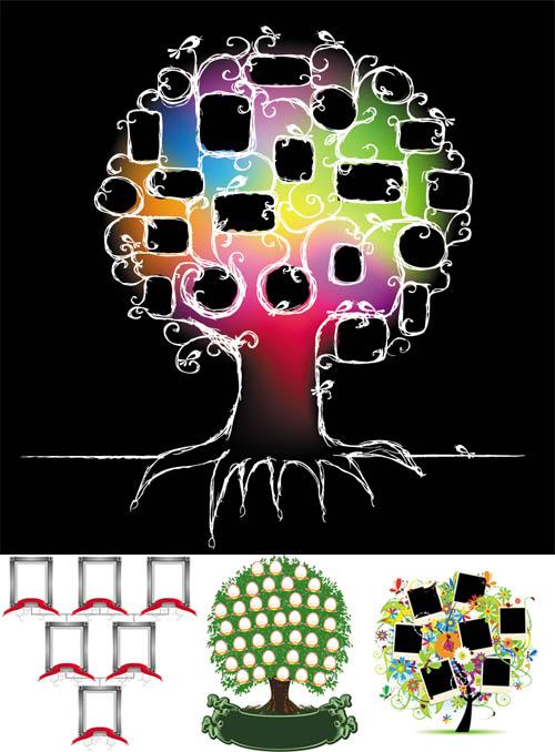 clipart family tree. Family Tree - Vector Clipart