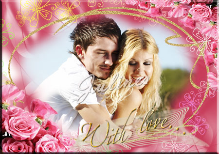 """Romantic frame for the photo - """"With love..."""""""