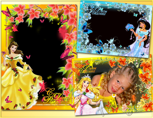 happy birthday princess disney. Frames for Girls - Disney
