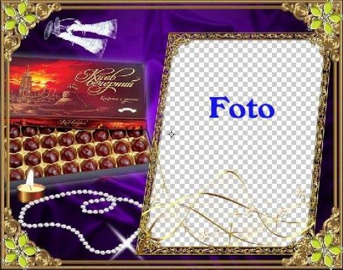 Frame romantic 6 psd templatepsd photoshoppng Framewedding framespsd