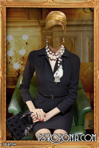 A woman suit for a photomontage is Miss elegance