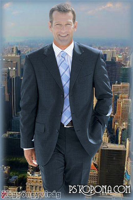 Men's template for Photoshop – Urban man 2.