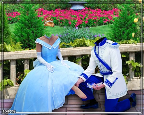 Doubles template for Photoshop - Cinderella
