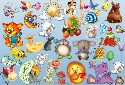 Scrap set children's Fairy-tale animals, birds, free download