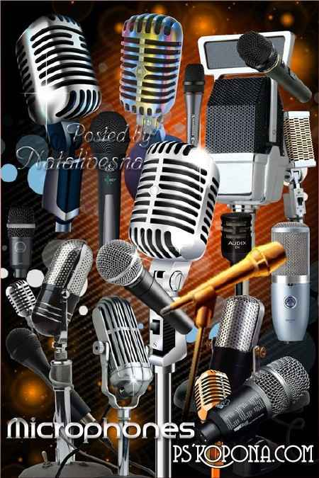 Clipart in PNG - the Musical microphone...