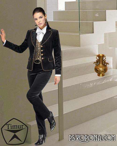 Woman template for Photoshop - Luxurious Women's Suit