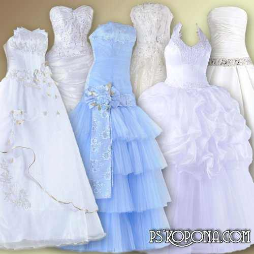 Clipart for Photoshopa - Wedding Dresses
