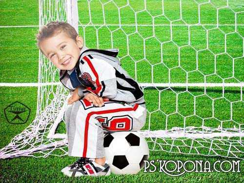 Kids psd templates - The football coaching