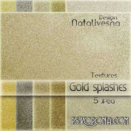 Gold splashes textures for Photoshop ( free textures, free download )