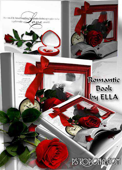 Romantic photobook psd template-The world in which only Me and You