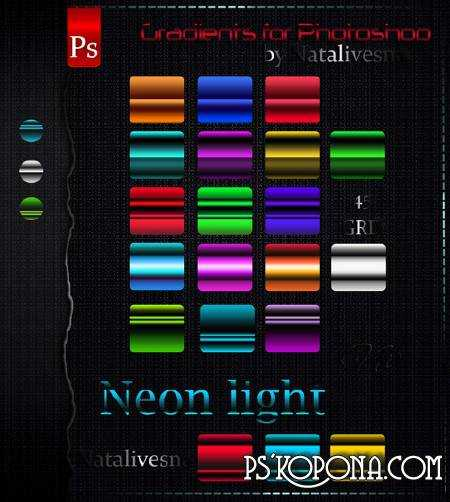 Bright Gradients for Photoshop - Neon light