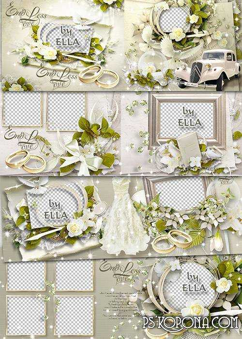 Delicate wedding album template - Spring of our love