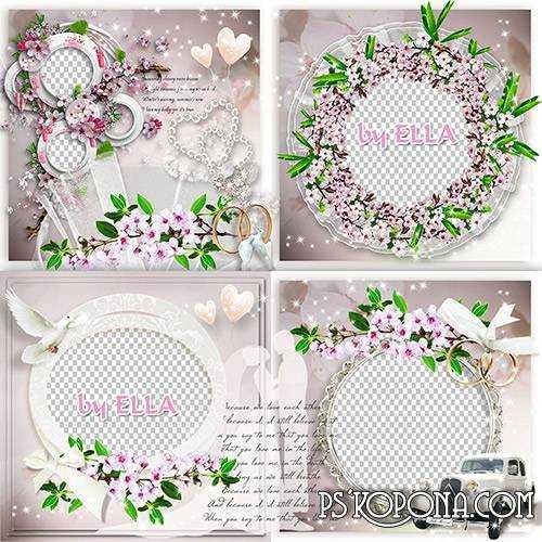 Wedding Photobook template-Our Spring