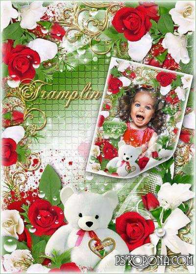 Beautiful frame for photo with roses - Angelic source