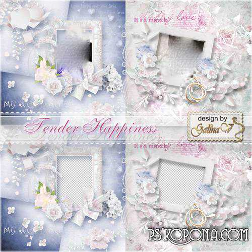 Wedding Photobook template psd - Tender Happiness