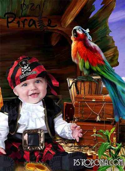 Child template for photomontage-Pirate booty