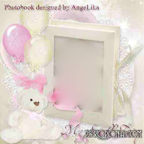 Photobook template psd for Girls - My Small Fairy