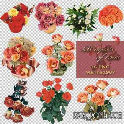 PNG graphics on a transparent background - Bouquets of roses