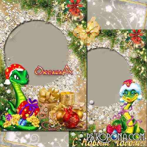 Photo Frame - A year of 2013, the snake promises you riches