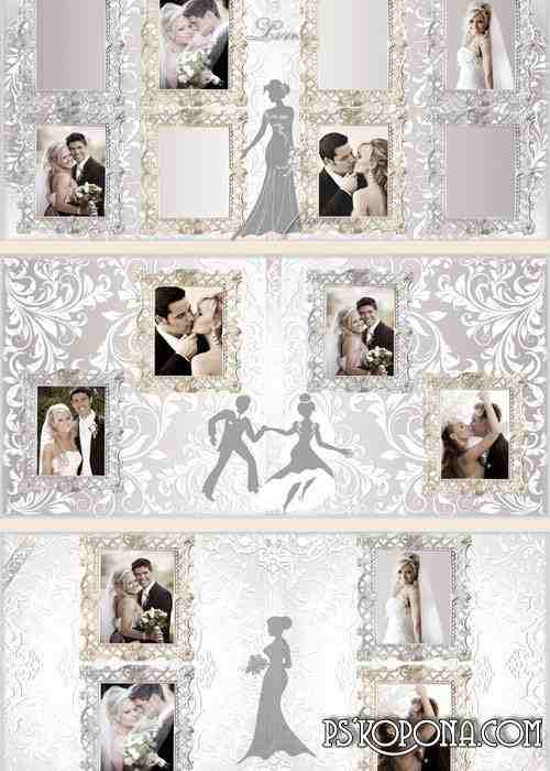 Wedding photo book template psd - Tenderness love and happiness
