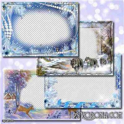 Winter frame for Photoshop - The beauty of nature